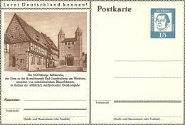 Bildpostkart Mint Die 1100 Jahrige Stiftkirche, Dom Roswithastadt Bad Gabdersheim Westharz - Kerken En Kathedralen