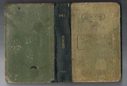AGENDA DUNOD - CHIMIE 1943 - NOMBREUSES PUBLICITE INTERIEURES ( PIV -PROLABO -TERRAZZOLITH -DROGUERIE DU CHEVRON - ETC ) - Books, Magazines, Comics