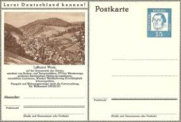 Bildpostkart Mint Luftkurort Wieda, Buchen- Und Tannenwaldern, Forstlehrpad, Mattensprungschanze - Kuurwezen