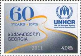 Georgia 2012 60th Ann. Of The UN Refuges Agency 1v MNH - Georgia