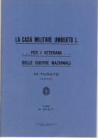 Turate (Como) - La Casa Militare Umberto I - Anno 1930 - - Guerra 1914-18