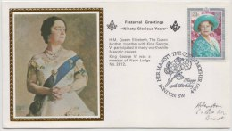 Freemasonry, Fraternal Greetings For Queen, Navy Lodge # 2612, Masonic Cover, Great Britain - Freemasonry