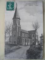 Le Cantal Illustré - Quézac - 1019 - L´église En 1911 - Carte En Bon état - Edit Malroux Aurillac - Autres Communes