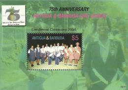 ant0611ss Antigua Barbuda 2006 75th Anniversary of Girl Guiding s/s Fruit Music