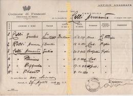 ^ FRASCATI ANAGRAFE ROMA CELLI ROSSI  I - Documenti Storici