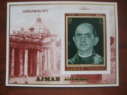 Ajman 1971 MNH BL 290 imperf
