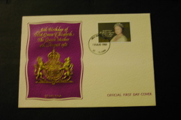 St Helena Queen Mother 80th Birthday Embossed Day Of Issue Cancel 1980 A04s - Saint Helena Island