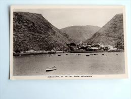 Carte Postale Ancienne : SAINTE-HELENE , St HELENA : Jamestown From Anchorage - Saint Helena Island