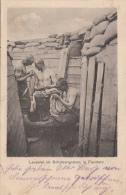 Photocarte Allemande-Soldats Allemands Lauserai Im Schützengraben In Flandern (guerre 14-18) 2scans - Guerre 1914-18