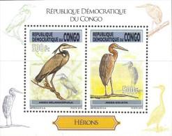 cdr12148a R.D. Congo 2012 Birds Crane s/s
