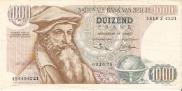 BILLETE DE BELGICA DE 1000 FRANCOS DEL AÑO 1975  (BANKNOTE) - 1000 Francos