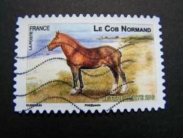 FRANCE OBLITERE 2013 N° 814 COB NORMAND SERIE DU CARNET CHEVAUX DE TRAIT DE NOS REGIONS AUTOCOLLANT ADHESIF - France