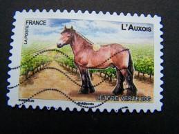 FRANCE OBLITERE 2013 N° 823 L'AUXOIS SERIE DU CARNET CHEVAUX DE TRAIT DE NOS REGIONS AUTOCOLLANT ADHESIF - France