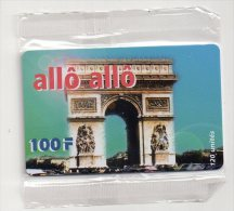 TELECARTE PHONECARD FRANCE 100 Cent Francs Allo Allo Arc De Triomphe - France