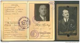Fiume Rijeka Narodni Odbor Primorje Passport Passaporto Sušak Sussa+karton Kabinet Photo Željeznica Zagreb Rare - Pubblicitari