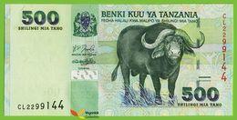 Voyo TANZANIA 500 Shilingi ND(2003) P35 B134a Prefix CL UNC Buffalo - Tanzania