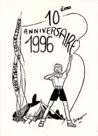CPM SCOUT SCOUTISME VIE SCOUTE LE CAMP D APRES CP PLEIN JEU DE SVEN SAINDERICHIN 1996 - Scoutismo