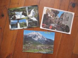 Lot De 3 Cartes D´Autriche      Golling Salzburger Land                        Tirol        Telfs - Sin Clasificación