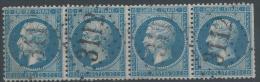 Lot N°23344   Bande De Quatre N°22, Oblit GC 3112 RENNES (34) - 1862 Napoleon III