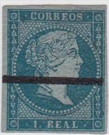 01886 España Edifil 41 Muestra Con Barra Horizontal - 1850-68 Reino: Isabel II