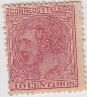 01909 España Edifil 202 (*) Cat. Eur. 16,50 - 1875-1882 Regno: Alfonso XII
