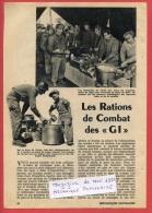 VP - Militaria - Les Rations De Combat Des GI's - Service Intendance Américain - Militaire - US Army - Livres, Revues & Catalogues