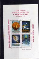 ERINNOFILIA ERINNOFILO 1977 AREZZO INCONTRO ITALIA SVIZZERA SOCIETA´ GINNASTICA PETRARCA FOGLIETTO VOLLEYBALL SHEET MNH - Gymnastik