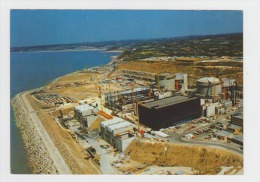 Cpm - Flamanville - 50 - Centrale Nucléaire - N°2 Vue Des Tranches 1 Et 2 --- Travaux Construction Grue échafaudage - Frankreich