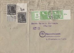 Gemeina. Brief Mif Minr.943 OR Platte, 943 UR Walze, 946 OR Walze, 946 UR Platte Marburg 6.5.48 - Gemeinschaftsausgaben