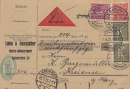 DR NN-Karte Mif Minr.158, 2x 159,225 Berlin 21.9.22 - Briefe U. Dokumente