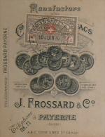 SUISSE PAYERNETabacsJ. FROSSARD & Cie 1920  SCHWEIZERISCHE KREDITANSTAL Timbre Fiscal Suisse - Documents