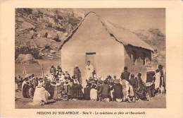 Afrique(Lesotho) BASUTOLAND (OBLATS) Missions En Sud Afrique Le Catéchisme En Plein Air (RELIGION) - Lesotho