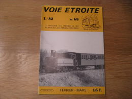 VOIE ETROITE N° 68 Revue APPEVA Train Tram Autorail Chemins De Fer Tramways Baie De Somme Voie 60 Carrière Maréchaux - Chemin De Fer & Tramway