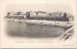 CHERBOURG - Vue Générale De La Plage Et Le Fort Du Roule - Cherbourg