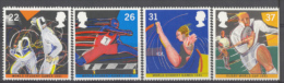 BL2-42 GREAT BRITAIN 1991 SG 1564-1567 WORLD STUDENT GAMES, FENCING, RUGBY, HURDLES, ATHLETICS. MNH, POSTFRIS, NEUF**. - Schermen