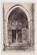 SAINT LOUP DE NAUD - N° 566 - PORTAIL DE L' EGLISE - CARTE FORMAT CPA NON VOYAGEE - Photo E. MIGNON A NANGIS - France