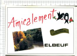 ELBEUF -  Amicalement  -  Hirondelles Sur Le Fil  En Illustration -  Doulce France - Elbeuf