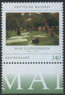 GERMANY Mi. 2974 MNH SINGLE W/ Bottom Margin (c) -German Paintings: Liebermann - Nuevos