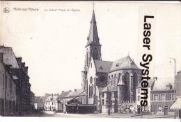 HAM-SUR-HEURE - La Grand'Place Et L'Eglise - Ham-sur-Heure-Nalinnes