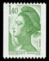 France N° 2191,** Liberté De Gandon - Le 1.40 Fr De Roulette Verte - - France
