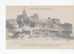 CPA-TRANSPORTS-TRAINS-... LOCOMOTIVE FRANCAISES-ETAT-MACHINE N° 221-107-POUR TRAINS RAPIDES-ANIMEE-2 MECANOS - Eisenbahnen