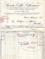 1912    FATTURA  SOCIETÀ EDILE  PADOVA - Italia