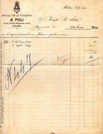 1912    FATTURA  ARTICOLI PER LA FOTOGRAFIA MILANO - Italia