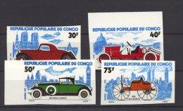 T 800  -  Congo  -  1975  :  Yv  377-80  **  Non Dentelé  ,  Voiture - Car - Congo - Brazzaville
