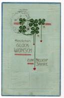 1905 Art Nouveau Neuen Jahre New Year Celebration Clovers Carte Postale Original Postcard Cpa Ak (W3_2852) - Año Nuevo