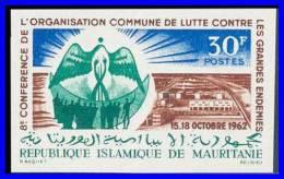 MAURITANIA 1962 MEDICINE,  ENDEMIC DISEASES SC#171 BIRD IMPERF MNH (D165) - Enfermedades