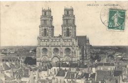 ORLEANS--LA CATHEDRALE --BEL AFFR SUR RECTO DU 23/5/1909--ECRITE AU VERSO-- - Orleans
