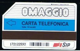 07 - ITALIA - 0P45 OMAGGIO PRIVATA TESSERA TELEFONICA NO. 45  USATA - Italia