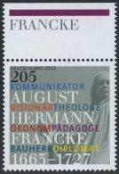 GERMANY Mi. 2989 MNH SINGLE W/ Top Margin (b) -August Hermann Francke - Nuevos