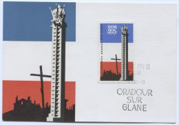 Germany, DDR - Postal Stationery ORADOUR - Sur - GLANE, France, Unused - [6] República Democrática